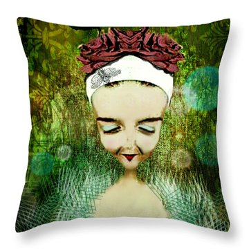 Throw Pillow featuring the digital art Wash Your Face Each Night by Delight Worthyn