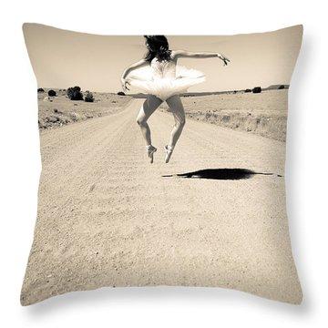 Washboard Ballet Throw Pillow