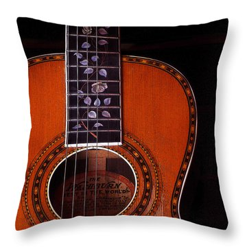 Washburn Guitar Throw Pillow by Jim Mathis