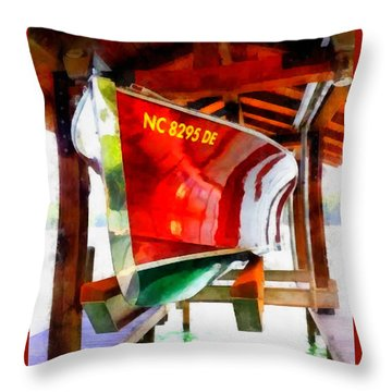 Throw Pillow featuring the painting Washed And Waxed by Elizabeth Coats