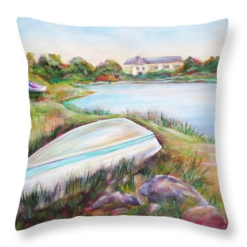 Washed Up Throw Pillow by Patricia Piffath