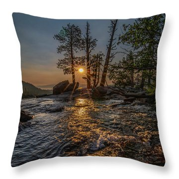 Washed With Golden Rays Throw Pillow