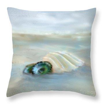 Washing Away Throw Pillow by Betty LaRue