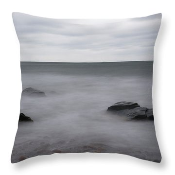 Throw Pillow featuring the photograph Washing Over The Beach by Andrew Pacheco