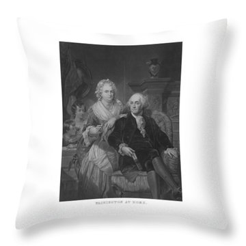 Washington At Home Throw Pillow by War Is Hell Store