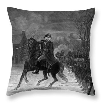 Washington At The Battle Of Trenton Throw Pillow
