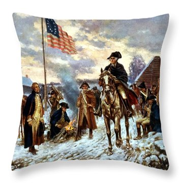 Washington At Valley Forge Throw Pillow by War Is Hell Store