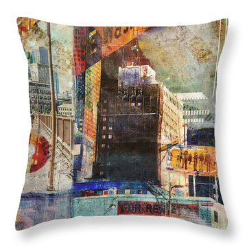 Washington Ave. 2 Throw Pillow