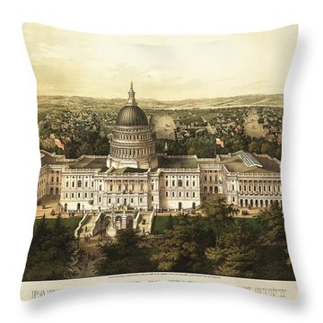 Washington City 1857 Throw Pillow