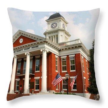 Washington County Courthouse Throw Pillow by Kristin Elmquist