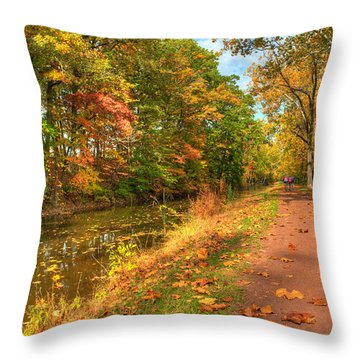 Washington Crossing Park Throw Pillow