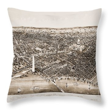 Washington D.c., 1892 Throw Pillow by Granger