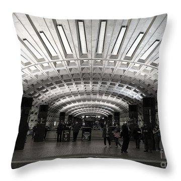 Washington Dc Metro Metro Center Stop Throw Pillow