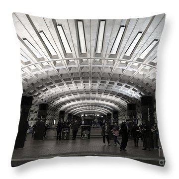Washington Dc Metro Metro Center Stop Throw Pillow