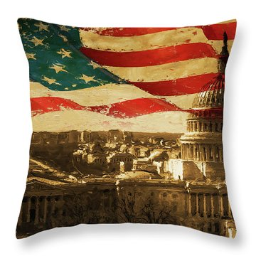 Washington Dc Usa 002 Throw Pillow by Gull G