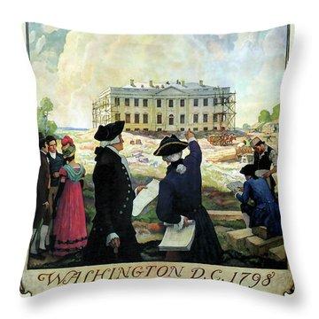 Washington D C Vintage Travel 1932 Throw Pillow