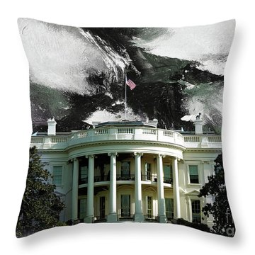 Washington Dc, White House Throw Pillow by Gull G