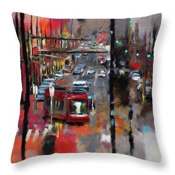 Washington I 471 1 Throw Pillow by Mawra Tahreem