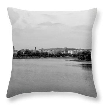 Washington Landmarks Throw Pillow by Heather Applegate