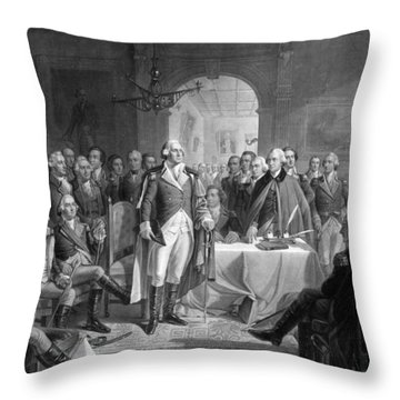 Washington Meeting His Generals Throw Pillow