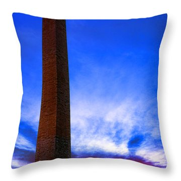 Washington Monument Glory Throw Pillow by Olivier Le Queinec
