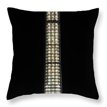Washington Monument In Repair Throw Pillow