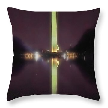 Washington Monument Throw Pillow by Lorella Schoales