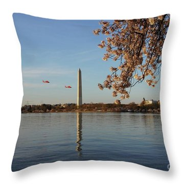 Washington Monument Throw Pillow by Megan Cohen