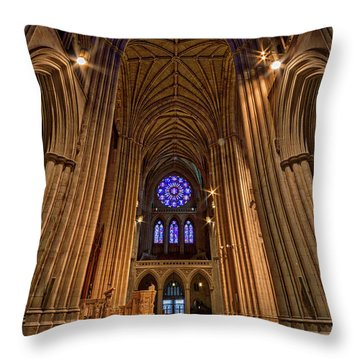 Washington National Cathedral Crossing Throw Pillow