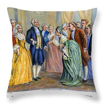 Washington Reception, 1789 Throw Pillow by Granger