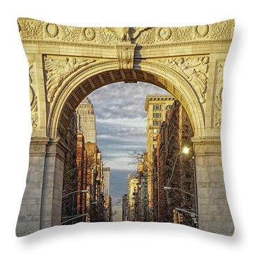 Washington Square Golden Arch Throw Pillow