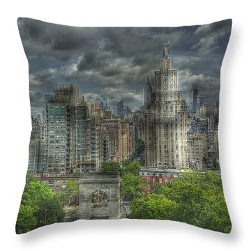 Washington Square Throw Pillow by William Fields