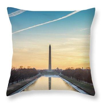 Washington Sunrise Throw Pillow