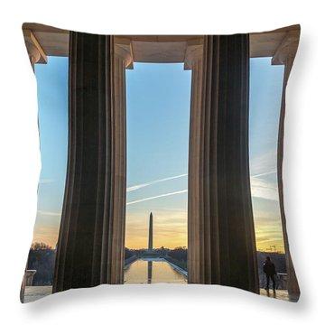 Washington Through Lincoln Throw Pillow