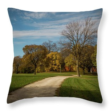 Washington Walkway Throw Pillow by Kimberly Mackowski