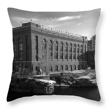 Washington Water Power Post Street Station - Spokane Washington Throw Pillow by Daniel Hagerman