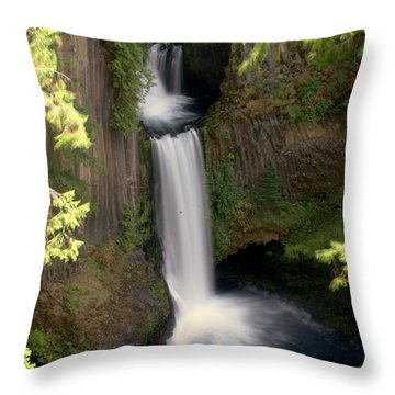 Washington Waterfall Throw Pillow by Marty Koch
