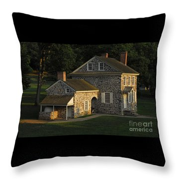 Washington's Headquarters At Valley Forge Throw Pillow by Cindy Manero