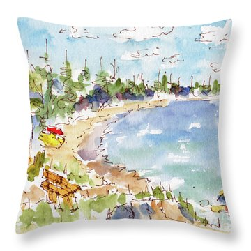 Waskesiu Summer Throw Pillow
