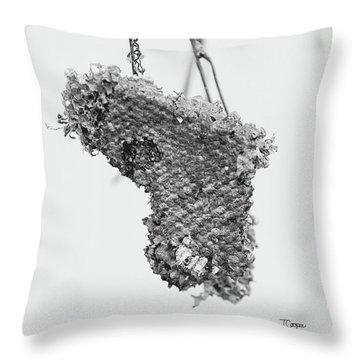 Wasp Nest Heart Throw Pillow