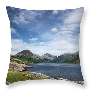 Wastwater Morning Throw Pillow