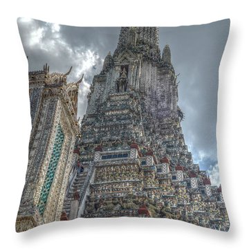 Wat Arun Throw Pillow by Michelle Meenawong