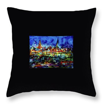 Wat Phra Kaew Throw Pillow