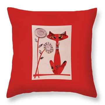 Watch-cat Throw Pillow