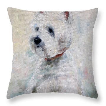 Watch Dog Throw Pillow by Mary Sparrow