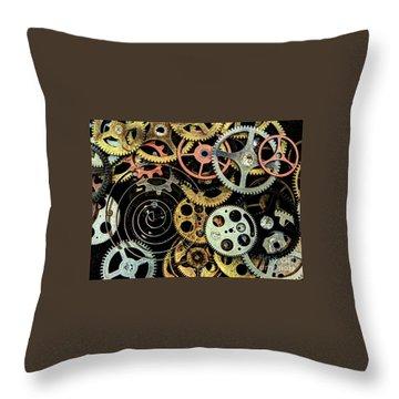 Watch Gears #1 Throw Pillow