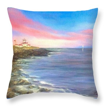 Watch Hill Light House Throw Pillow