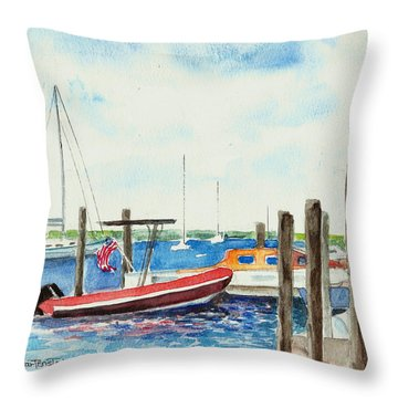 Watch Hill Marina Throw Pillow