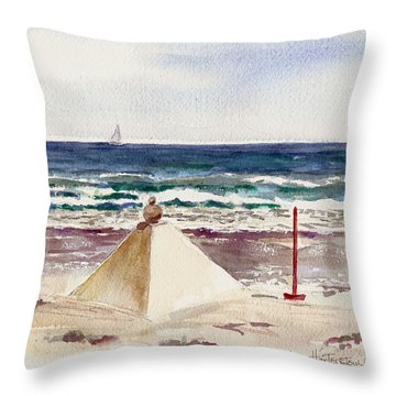 Watch Hill Ri Sand Sculpture Throw Pillow