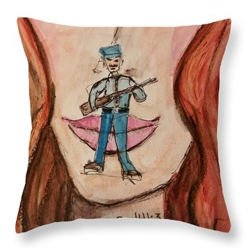 Watch My Words Throw Pillow
